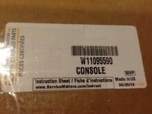 W11095590 WHIRLPOOL DISHWASHER CONSOLE  NEW PART