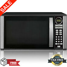 Microwave Oven 1 3 Cu  Ft  1000W Black Countertop Kitchen Appliance LED Display