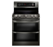 LG LDE4415BD 30  Black Stainless Double Oven Electric Range
