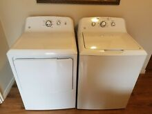 GE White Laundry 27  Top Load Washer and Front Load Dryer Pair