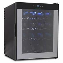 NutriChef 16 Bottle Thermoelectric Red And White Wine Cooler Chiller  Counter To