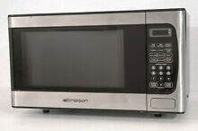 Emerson 900 W 0 9 Cu Ft Microwave Oven  Stainless Steel Front Finish MW9339SB