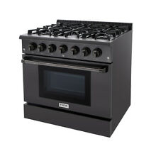 36  Thor Black Steel Gas Range Free Standing 6 Burners Cooktop 5 2 cu ft Oven