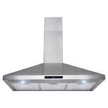 Golden Vantage 36  Stainless Steel Wall Mount Touch Control Kitchen Cooking Hood