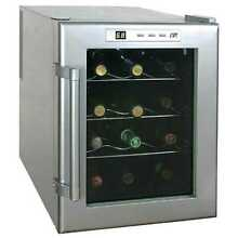 12 Bottle ThermoElectric Wine Cooler Home Kitchen Appliance