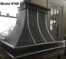 Zinc Range Hood  Vent Hoods  Fan Incl  All Custom Sizes  Metals   Model  166