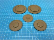 Genuine Whirlpool Range Oven Burner Cap W10169973 W10169974 W10169975 Set of 5