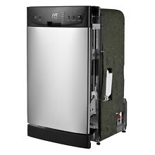 Front Control Stainless Steel 18 inch Built In Dishwasher Kitchen Appliance