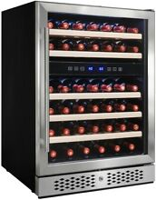 AKDY 23 5 in  46 Bottle Wine 92 Can Built in Compressor Beverage Cooler