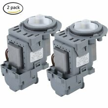 2pcs W10130913 Washer Drain Pump Motor Whirlpool WPW10730972 AT