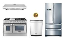 48  Dual Fuel Range Thor Kitchen 4 Piece Bundle