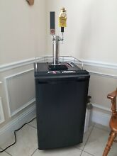 EdgeStar KC2000TWIN Full Size Kegerator Double Tap with 3 CO2 tanks tap handle