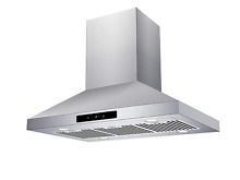 CIARRA 36 in Island Mount Range Hood Stainless Steel Ducted Ductless Convertible