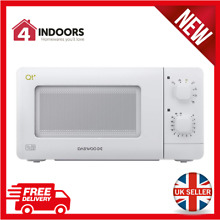 Daewoo QT1R Manual Control Microwave Oven 14L 600w In White   Brand New