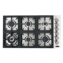 Cosmo 36 in  Gas Cooktop in Stainless Steel with 6 Italian Made Burners