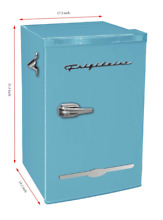 New BLUE 3 2 Cu Ft Retro Mini Fridge Compact Refrigerator Small Office Dorm Cool