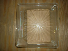Vintage Amana Radarrange Microwave Oven Glass Plate   Tray 14 1 2  X 13 5 8