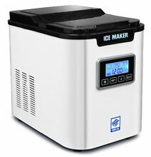 MRP US Portable Ice Maker IC703 With 3 Selectable Cube Size and TimerWhite for