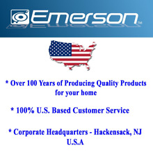Emerson 1 2 CU  FT  1100W Griller Microwave Oven with Touch Control  Stainless