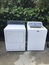 Maytag Top Load Gas Laundry Suite 4 3CuFt Washer and 7 0CuFt Dryer in White
