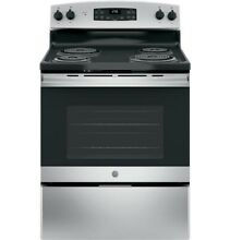 BRAND NEW GE jb255rk4ss 30  Black Stainless Freestanding Electric Range