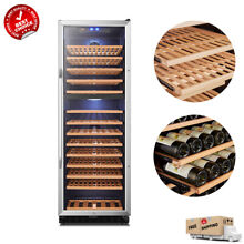 LANBO 160 Bottle Wine Cooler Compressor Dual Zone Beech Cellar Vibration free