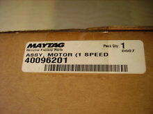 40096201 MAYTAG MOTOR   1 Speed Motor