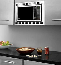 Summit OTR24 Built In Microwave Oven 900 Cooking Watts Stainless Steel Open Box
