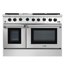 Thor 48Inch Gas Range 2 Oven 6 Cooktop Griddle Stainless Steel LRG4801U NEW