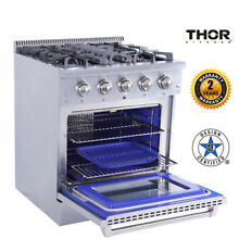 30  Dual Fuel Range 4 Burners Cooktop Thor Kitchen Stainless Steel Pro style
