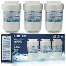 GE MWF Refrigerator Water Filter Smartwater Compatible Cartridge   By Pure Line