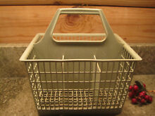 Vintage DISHWASHER Green Silverware BASKET Replacement Square w 6 Compartments