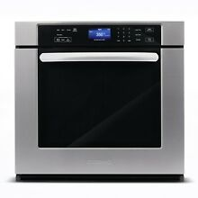 30  5 cu ft True European Convection Single Electric Wall Oven Stainless Steel