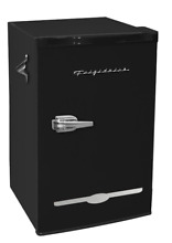 New Black Retro 3 2 Cu  Ft  Mini Fridge Compact Refrigerator Office Freezer Dorm