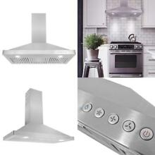 Cosmo 36 In  Wall Mount Range Hood   760 Cfm Ducted Exhaust Vent  3 Speed Fan  P