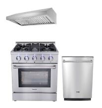Thor Kitchen 30  Gas Range  30  Range Hood and 24  Dishwasher 3 PKG Bundle