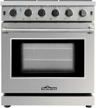30  Gas Range Thor Kitchen Stainless Steel 5 Burner   LRG3001U
