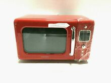 Daewoo 700W Retro Countertop 0 7 Cu  Ft  Microwave Oven  Red KOR 7LRER