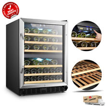 LANBO 44 Bottle Dual Zone Wine Refrigerator Built in Counter Compressor Cooler