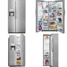22 1 cu  ft  Side by Side Refrigerator in Stainless Steel  Counter Depth