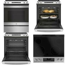 30 in  5 3 cu  ft  Slide In Electric Range with Self Cleaning Oven in Stainless