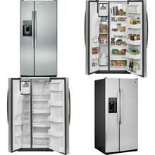 23 2 cu  ft  Side by Side Refrigerator in Stainless Steel