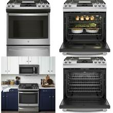 5 6 cu  ft  Slide In Gas Range with Self Cleaning Convection Oven in Stainless S