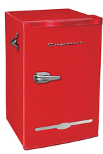 New Red Retro 3 2 Cu  Ft Mini Fridge Compact Refrigerators Small Freezer Office