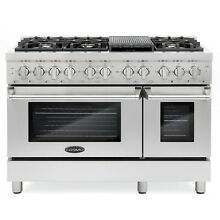 Commercial Style 48 in  5 8 cu  ft  Double Oven Dual Fuel Range 6 Sealed Burners
