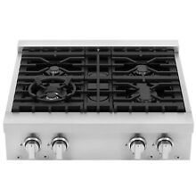 30 in  Gas Cooktop with 4 Italian Made Sealed Gas Burners in Stainless Steel