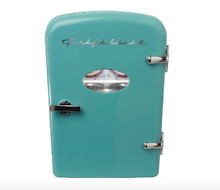 Desk Fridge Cooler For Office Mini Teen Compact Beverage Turquoise Retro Kitchen