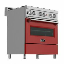 ZLINE 30  DUAL FUEL RANGE OVEN GAS ELECTRIC STAINLESS RED DOOR RAS RM 30