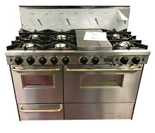 48  Stainless Dual Fuel LP Open Burner Double Oven Range   Convection