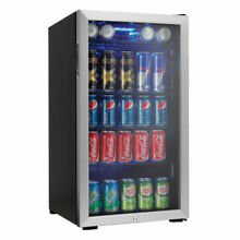 Danby 120 Can Beverage Center Soda Beer Bar Mini Fridge Cooler  Stainless Steel
